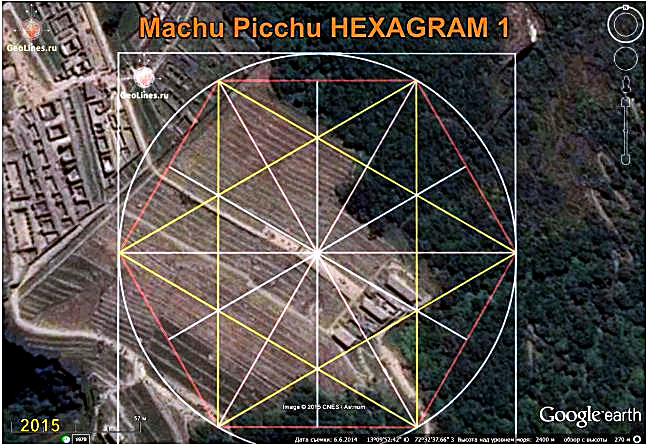 MACHU PICCHU orientation hexagram pentagram