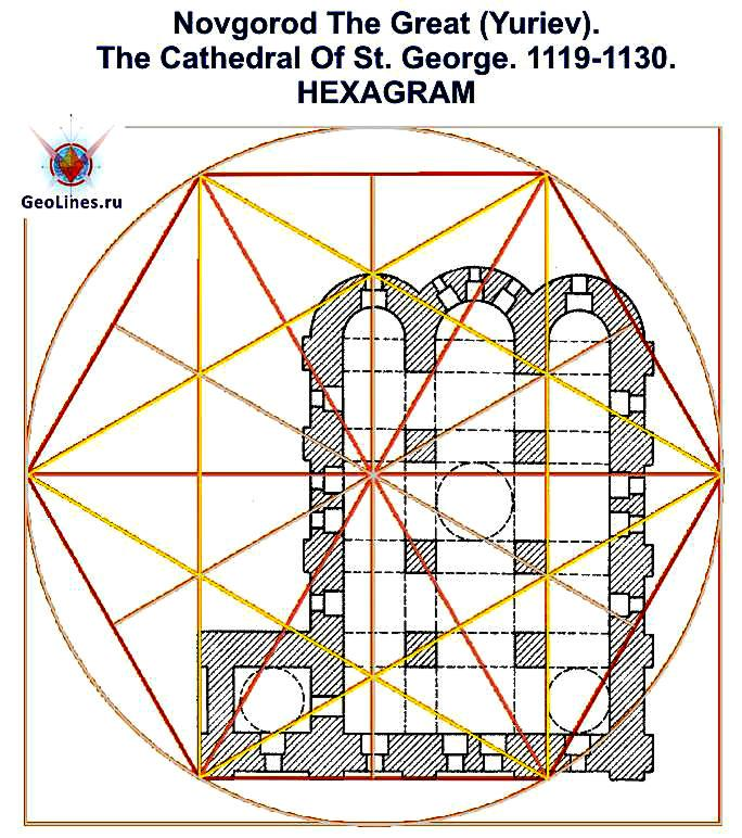 Георгиевский собор Юрьева монастыря гексаграмма 3