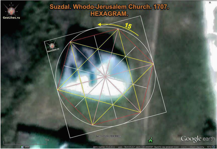 Входо-Иерусалимская церковь в Суздале гексаграмма