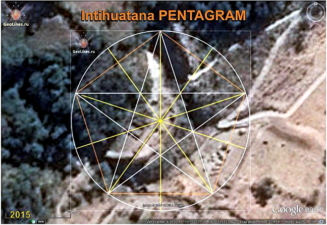 Intihuatana oriented according to pentagram