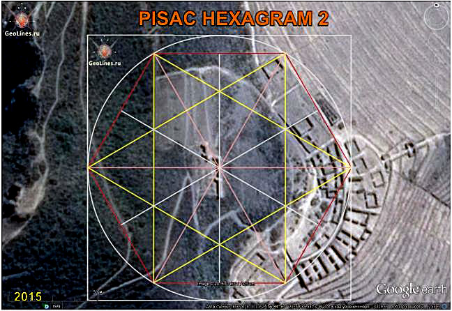 The ruins of Pisac orientation hexagram