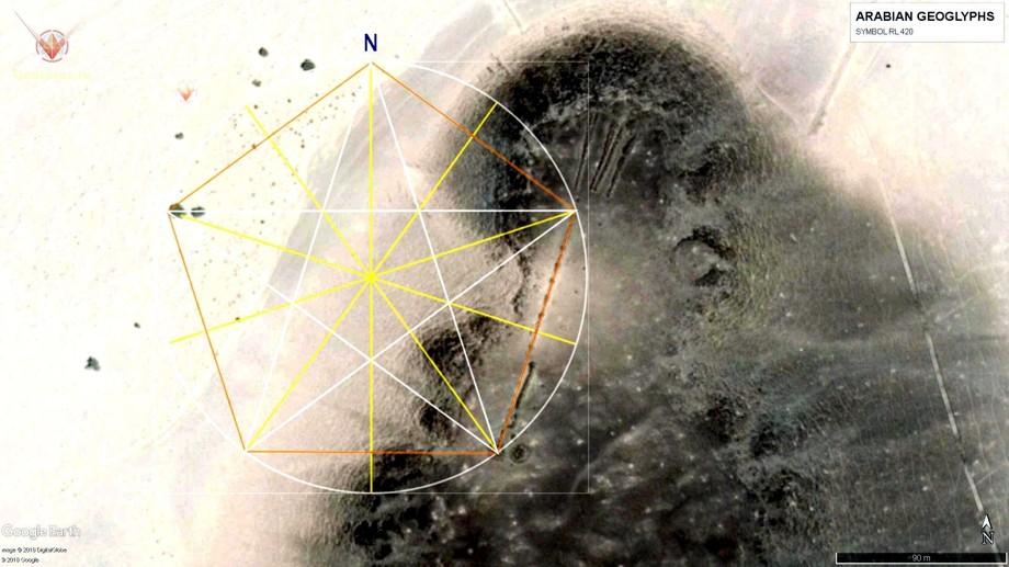 арабские геоглифы пентаграмма