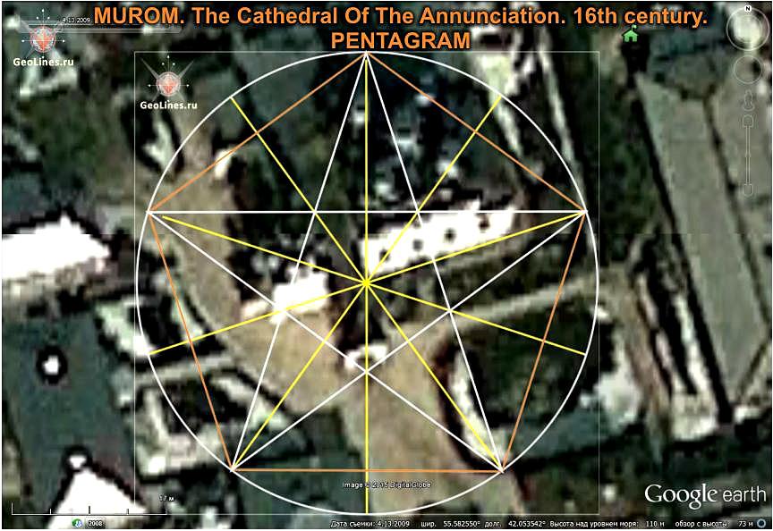 Благовещенский собор Муром пентаграмма