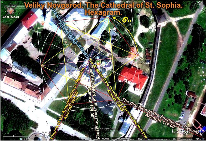 Софийский собор, гексаграмма