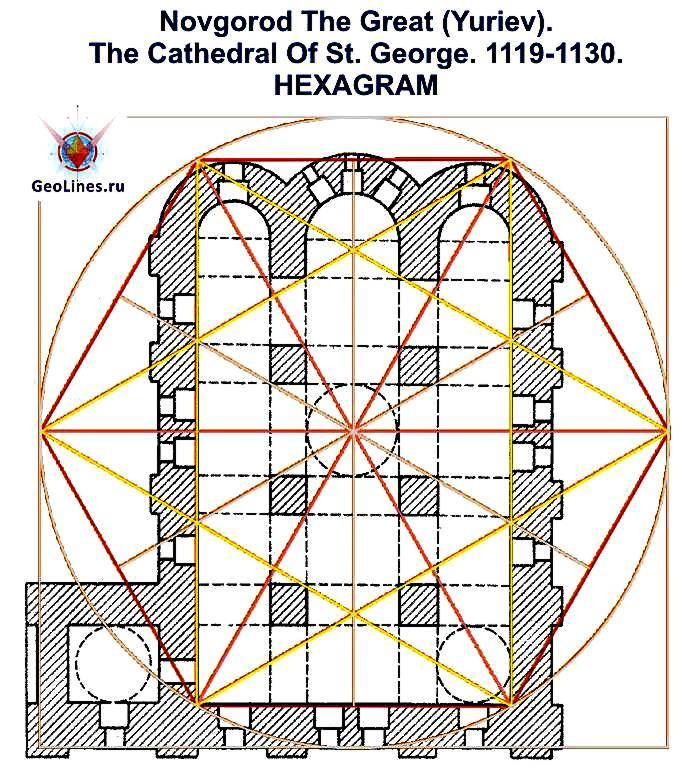 Георгиевский собор Юрьева монастыря гексаграмма 1