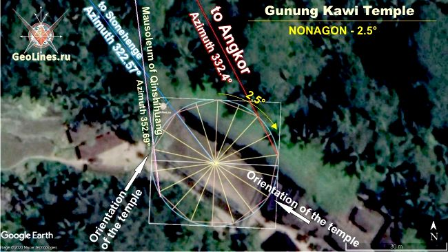 Гунунг Кави направление на Ангкор и Стоунхендж