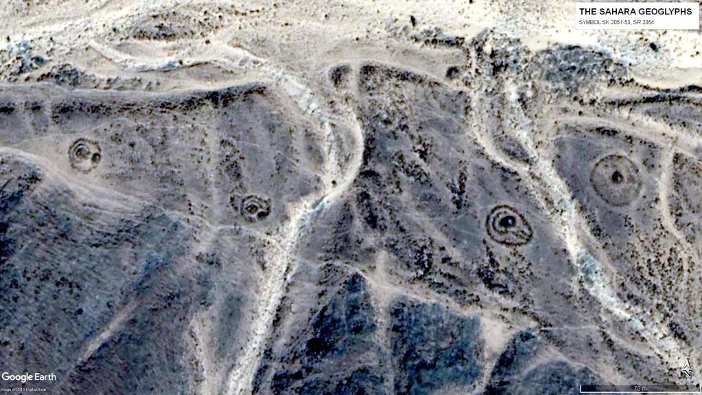 Три символа разной формы – SK 2051 – 53 и один символ в виде круга – SR 2054