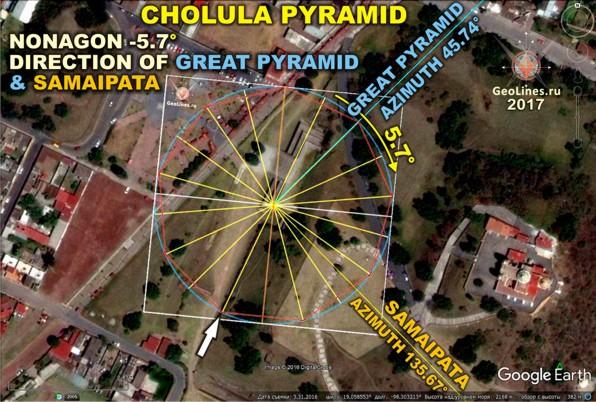 Пирамида Чолула.