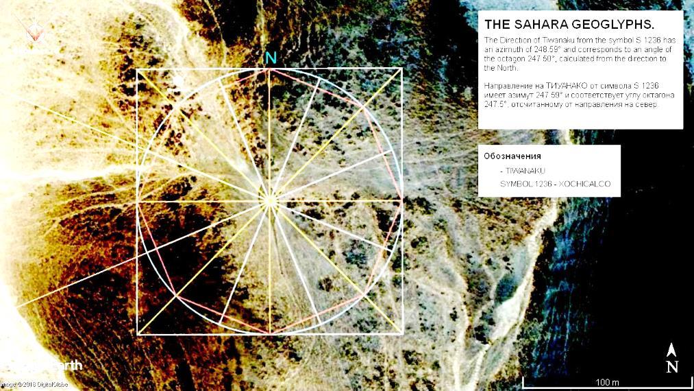 геоглифы Сахаары направление на Тиуанако