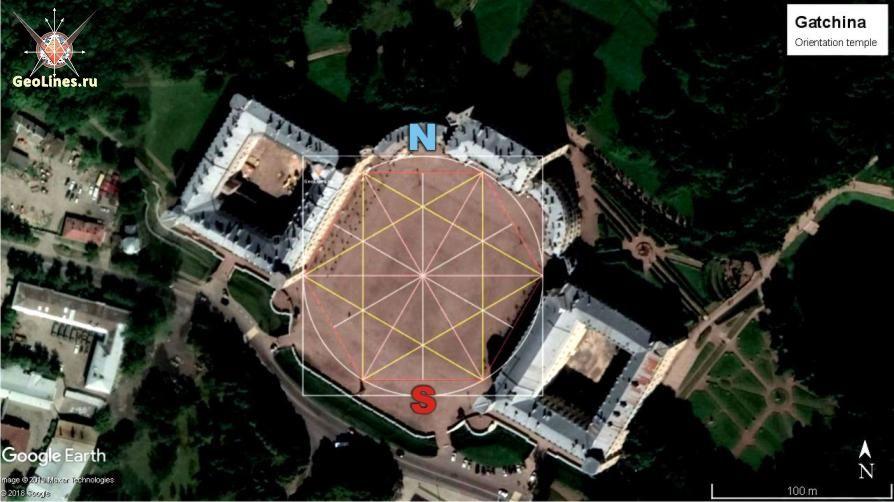 Гатчина ориентация дворца