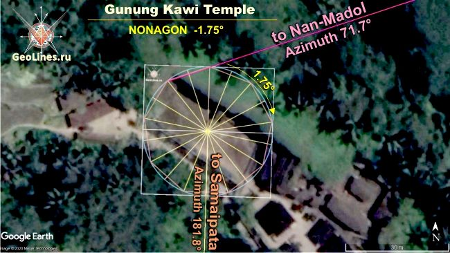 Гунунг Кави направление на Нан Мадол