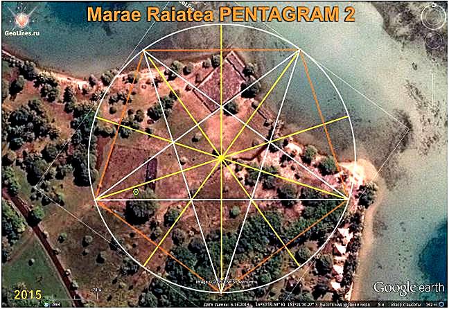Мараэ Тапутапуатеа ориентация пентаграмма