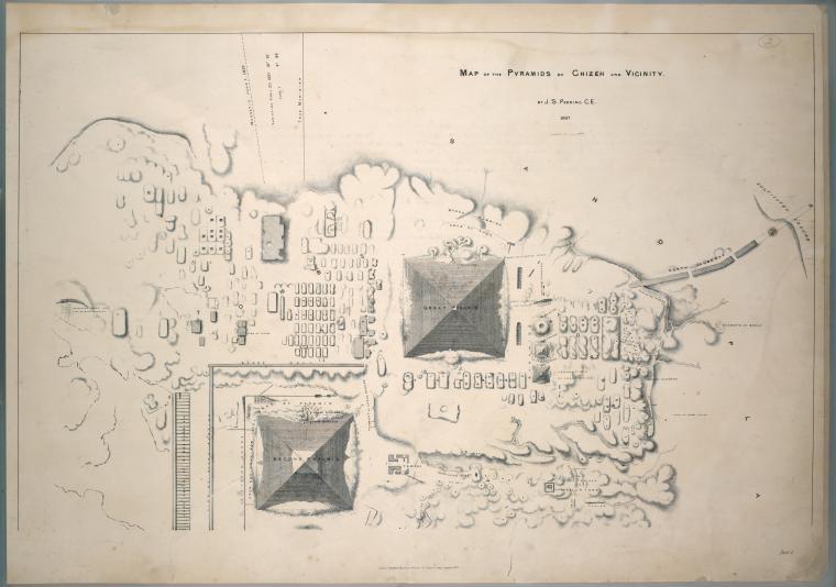 Карта Гизы. 19 век.