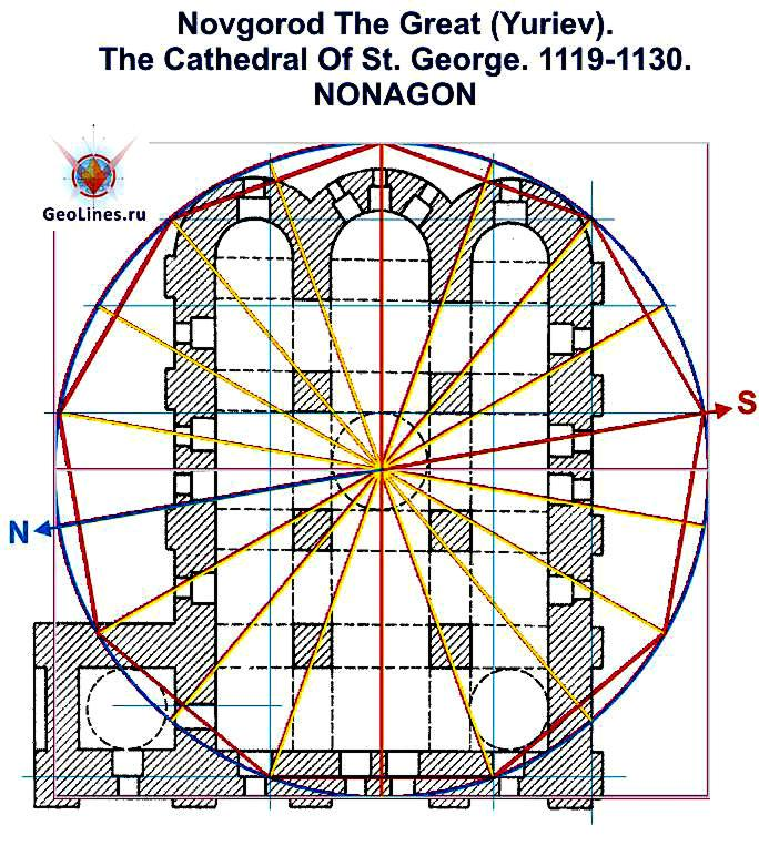 Георгиевский собор Юрьева монастыря нонагон