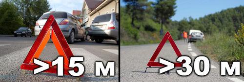 как поставить аварийный знак