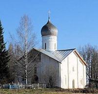 на Мячине церковь Благовещенья в Аркажах