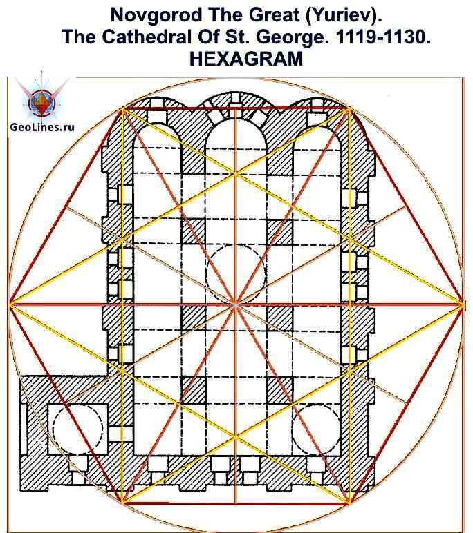 Георгиевский собор Юрьева монастыря гексаграмма 2