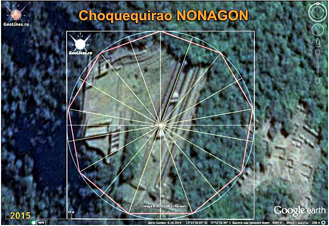 CHOQUEQUIRAO, the orientation of nonagon