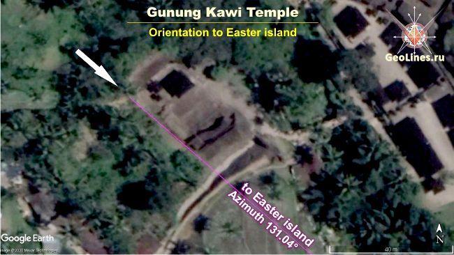 ориентация Гунунг Кави на остров Пасхи