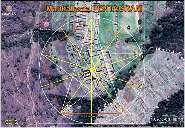 Maucallacta orientation of the pentagram