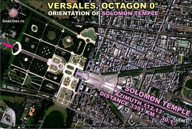 Ориентация Версаля на храм Соломона