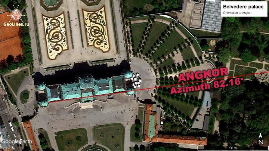Бельведер ориентация на Ангкор