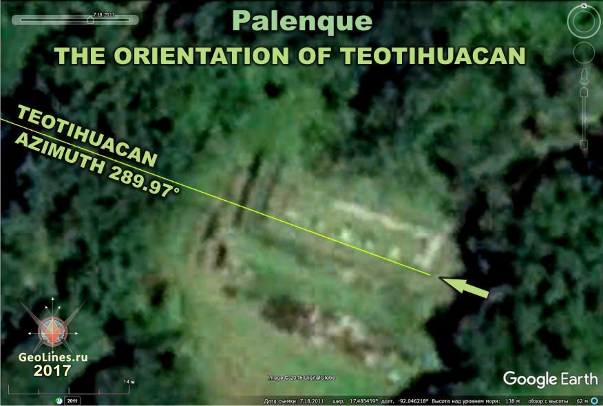 Паленке ориентация Теотиуакан