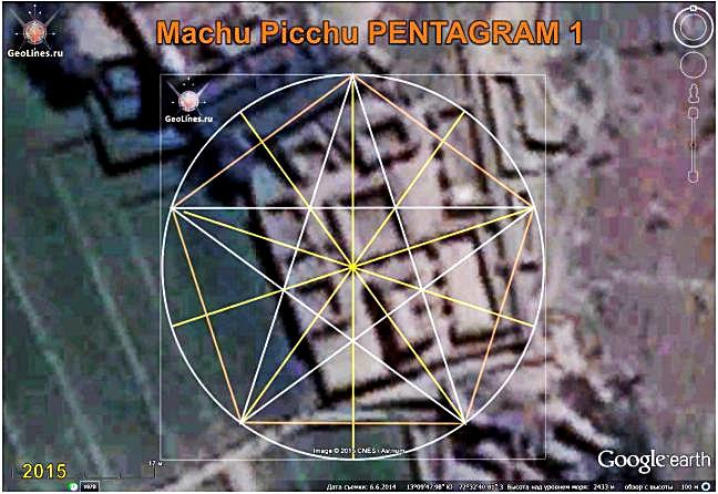 MACHU PICCHU orientation  pentagram