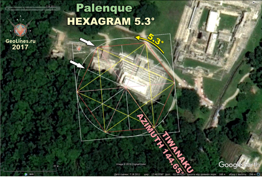 Направление на Тиуанако от пирамиды
