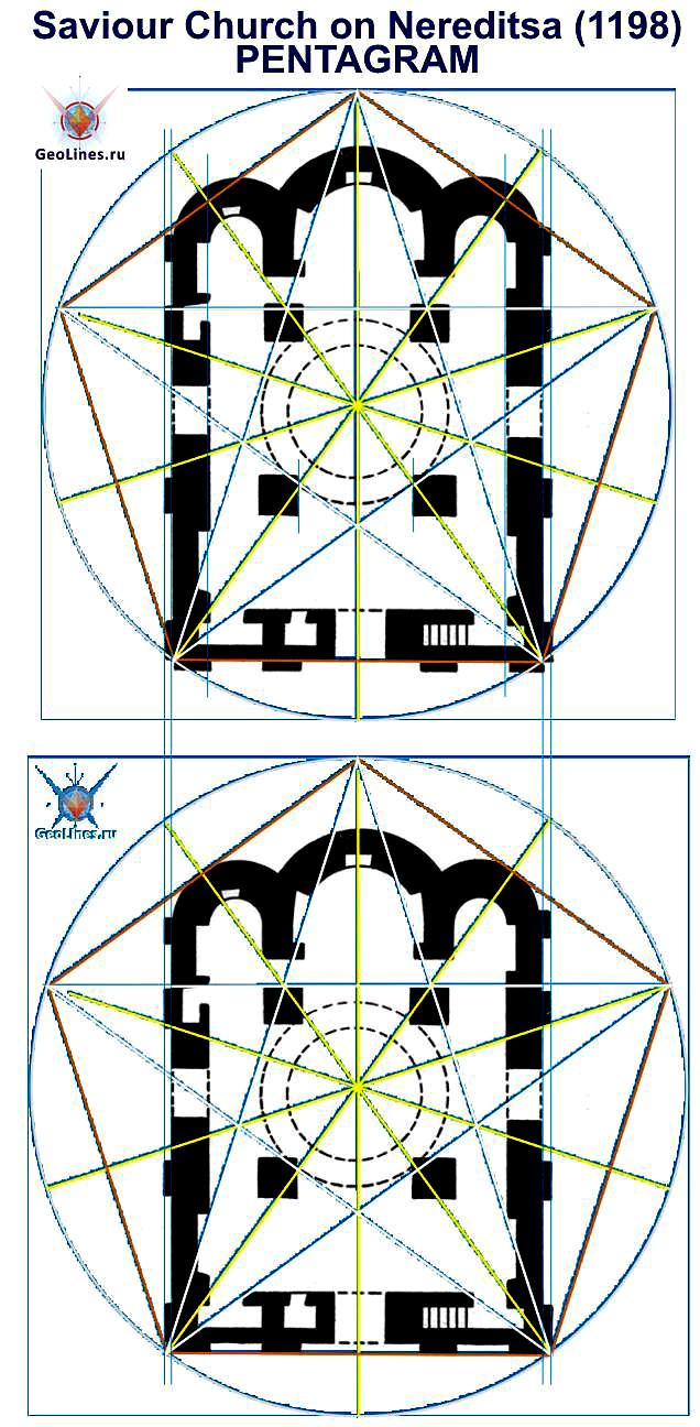 Церковь Спаса на Нередице пентаграмма Новгород