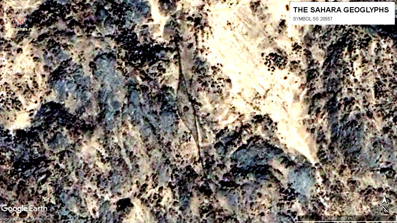 геоглиф Сахары - веретено